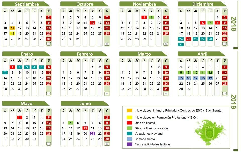 Calendario Laboral Ceuta 2019.El Curso 2018 2019 Comenzara El Martes 11 De Septiembre En Colegios