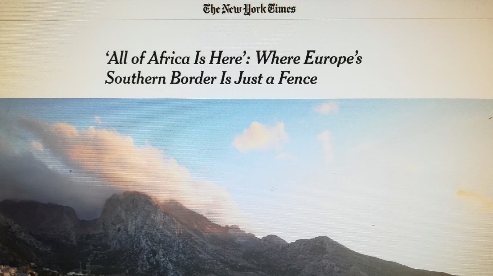 Limpia, ordenada y difícil de pronunciar. Así ve Ceuta The New York Times