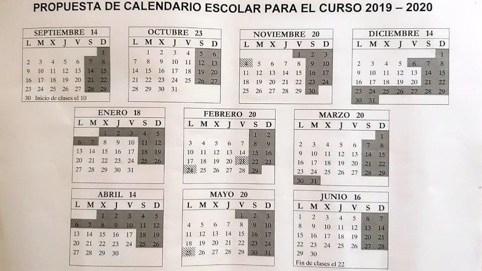 Calendario Diario 2020.La Junta Docente Propone Ubicar Un Festivo Escolar Junto A