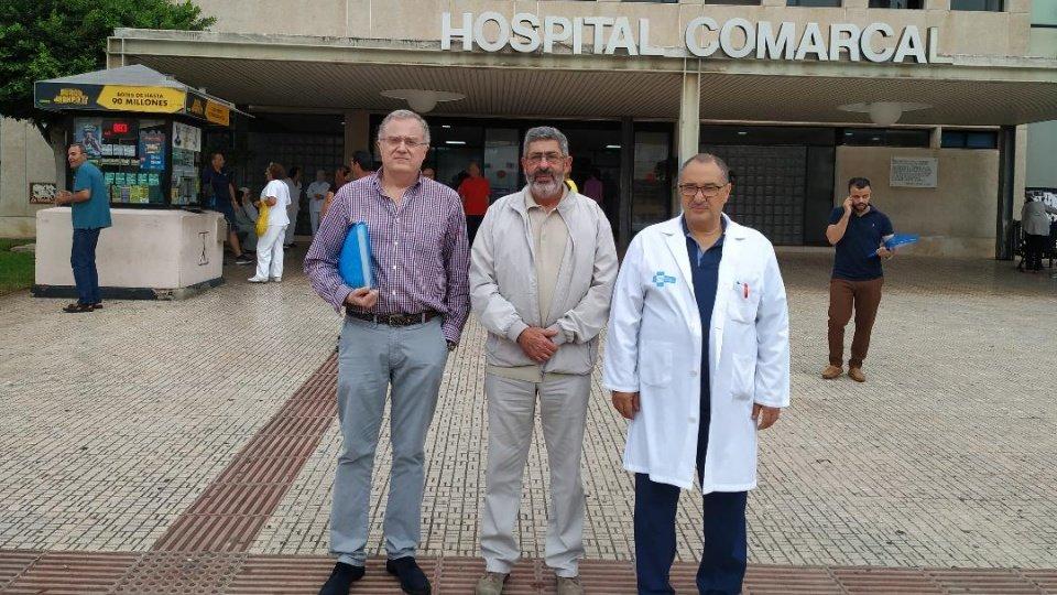 Foto de familia de los dirigentes de ambos sindicatos tras su reunión en Melilla.